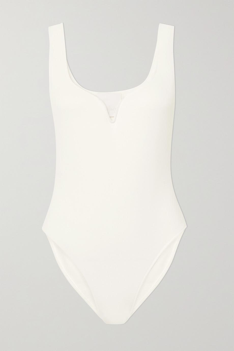 Paris Georgia Heart stretch-crepe bodysuit
