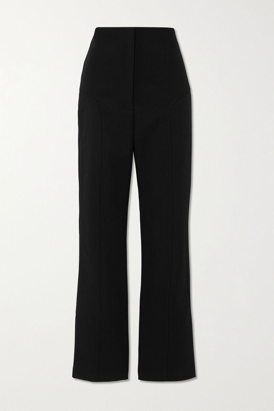 Paris Georgia Paneled crepe bootcut pants
