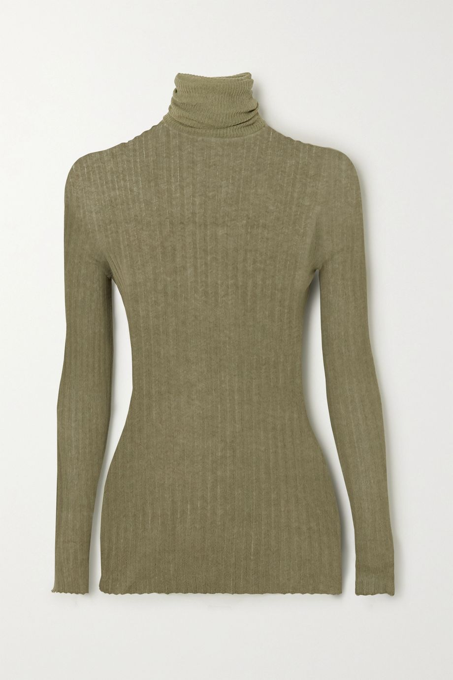 Paris Georgia Ribbed cotton turtleneck sweater