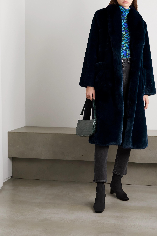 Reformation Hudson belted faux fur coat