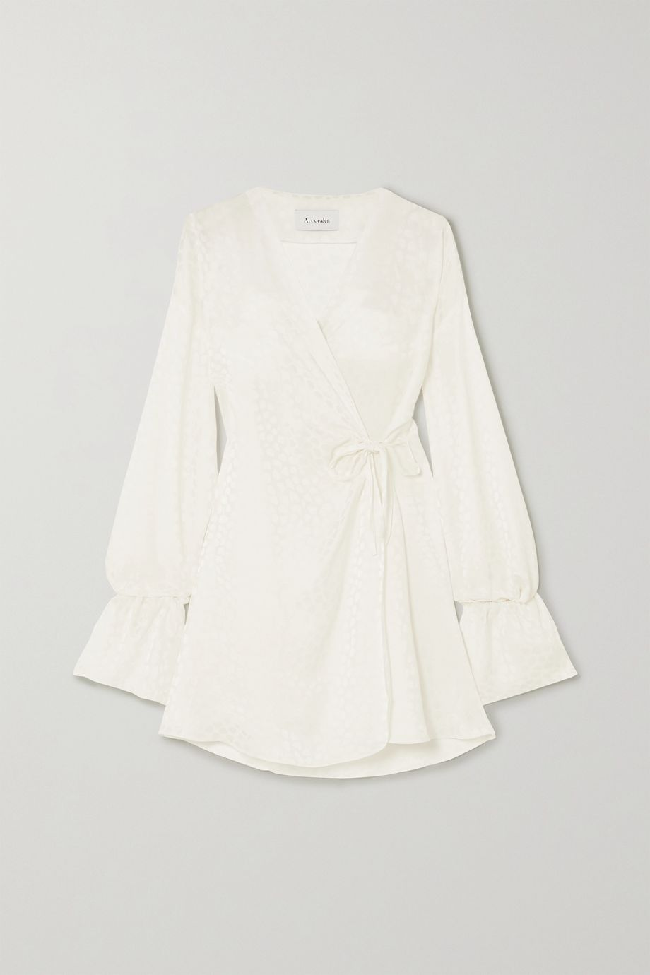 Art Dealer Naomi satin-jacquard wrap mini dress