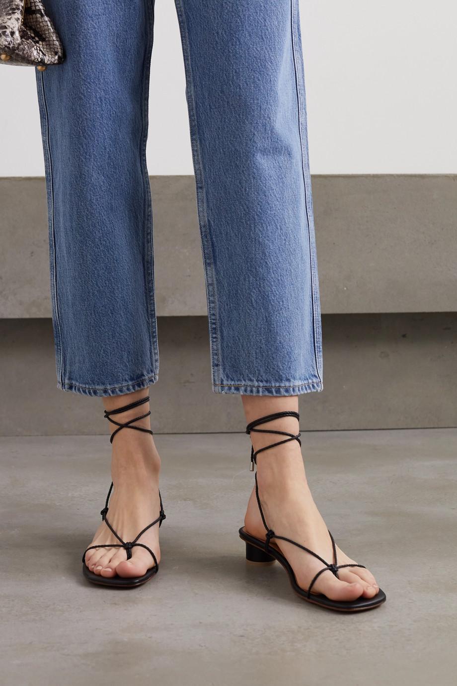 LOQ Dora 麻花编织皮革凉鞋