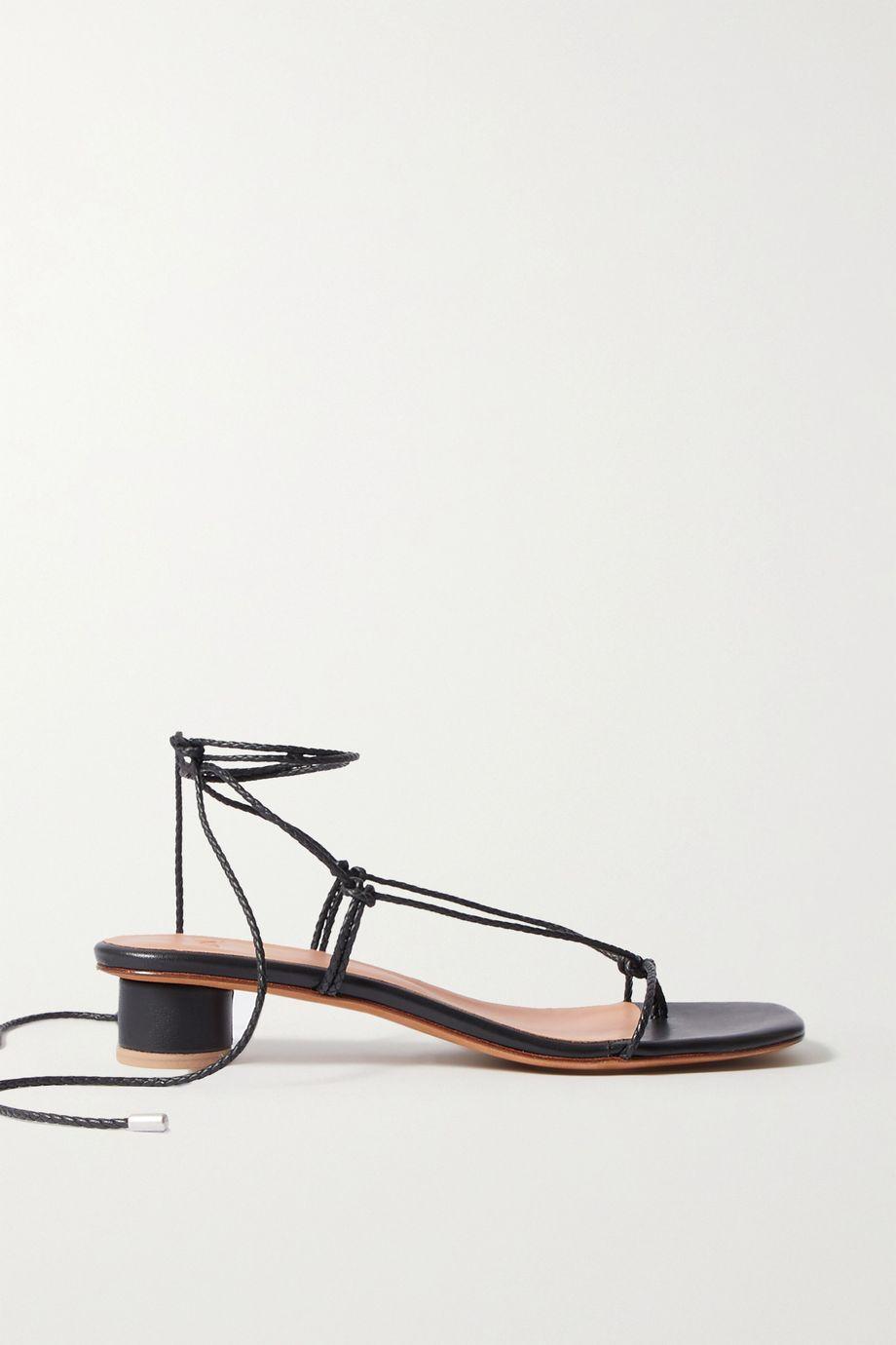 LOQ Dora Sandalen aus Leder mit geflochtenen Details