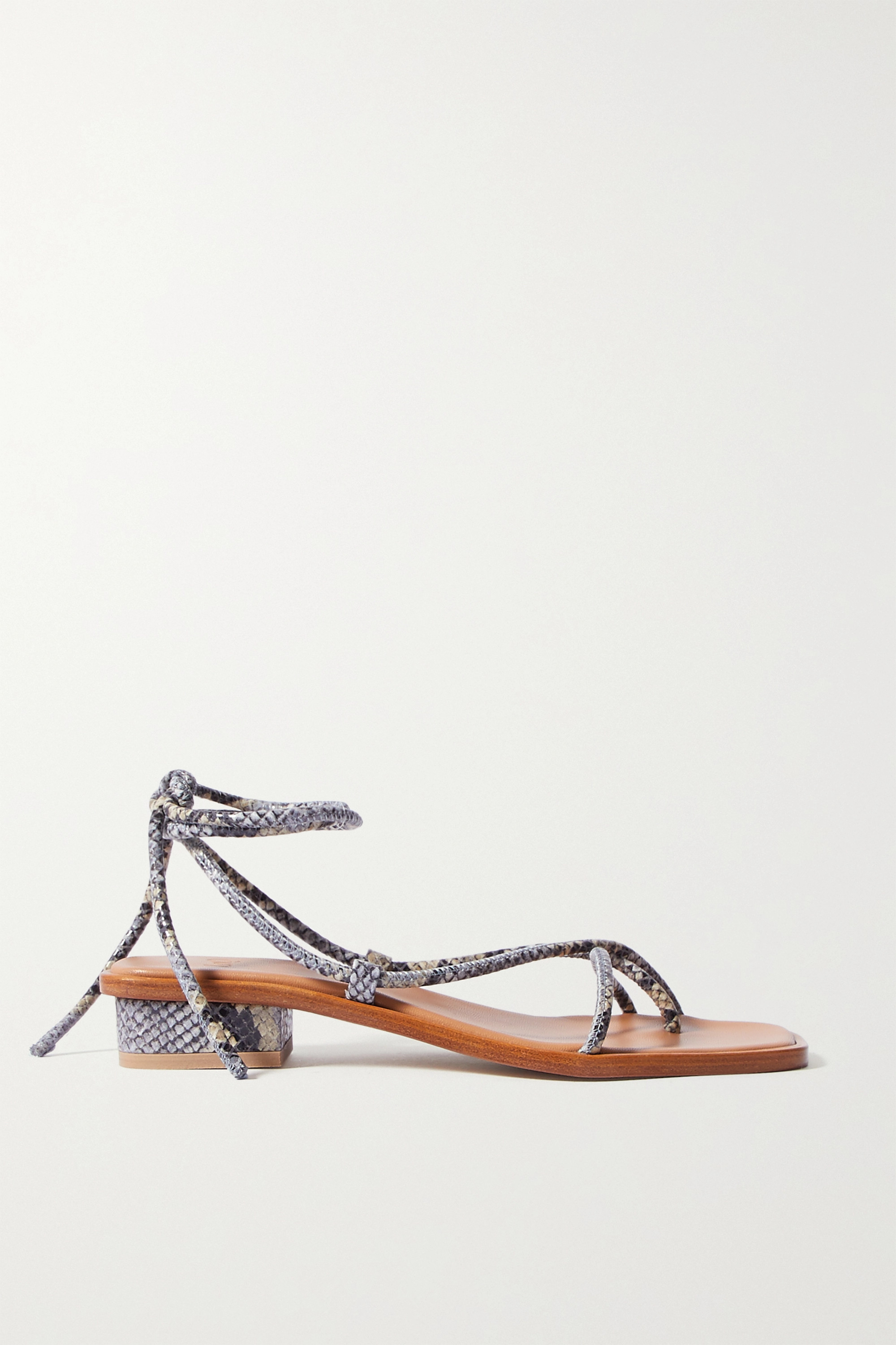 LOQ Ara snake-effect leather sandals