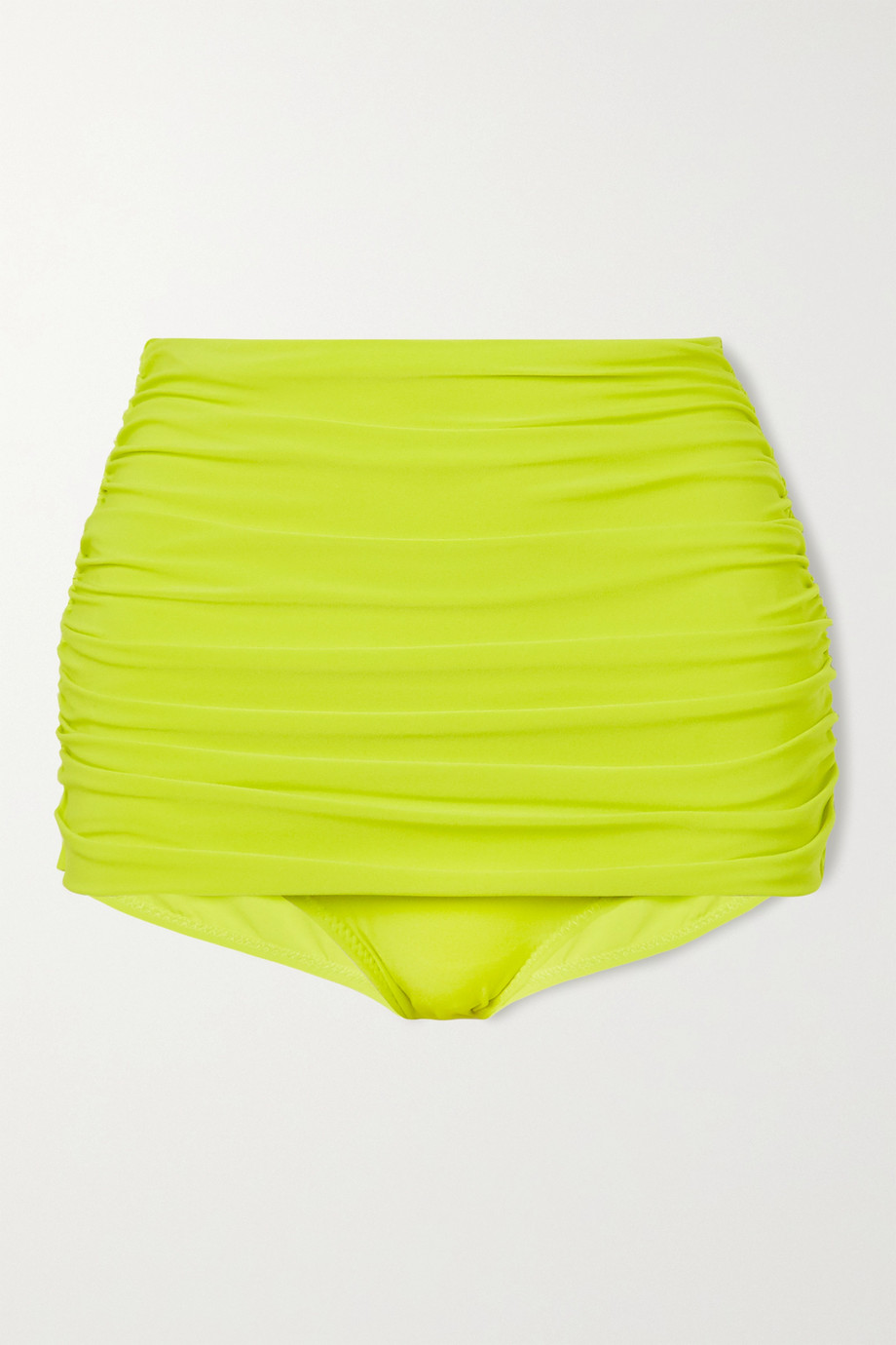 Norma Kamali Bill ruched bikini bottoms
