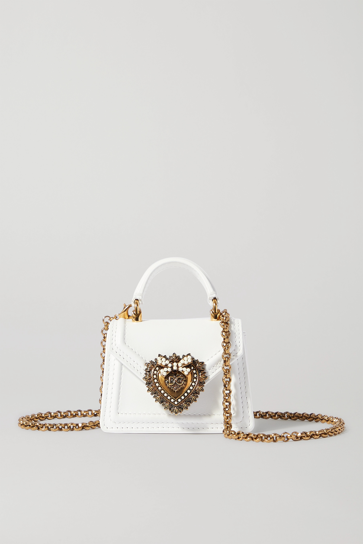 Dolce & Gabbana Devotion micro embellished leather shoulder bag
