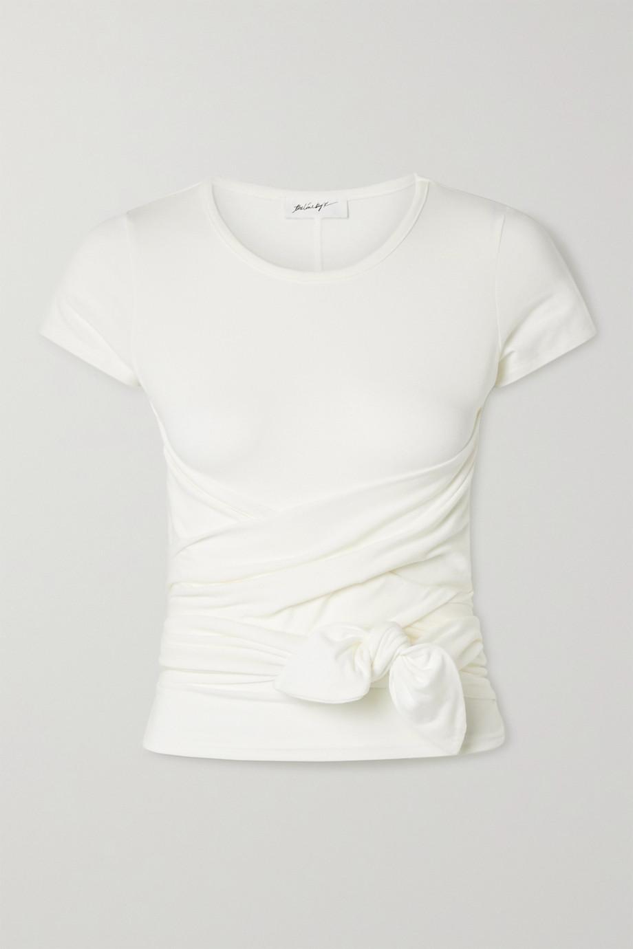 The Line By K T-shirt noué en jersey de coton stretch Jeanne