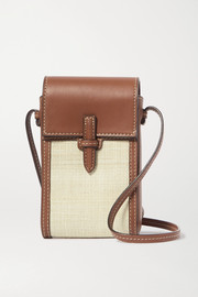 Hunting Season The Crossbody Pouch leather and fique shoulder bag