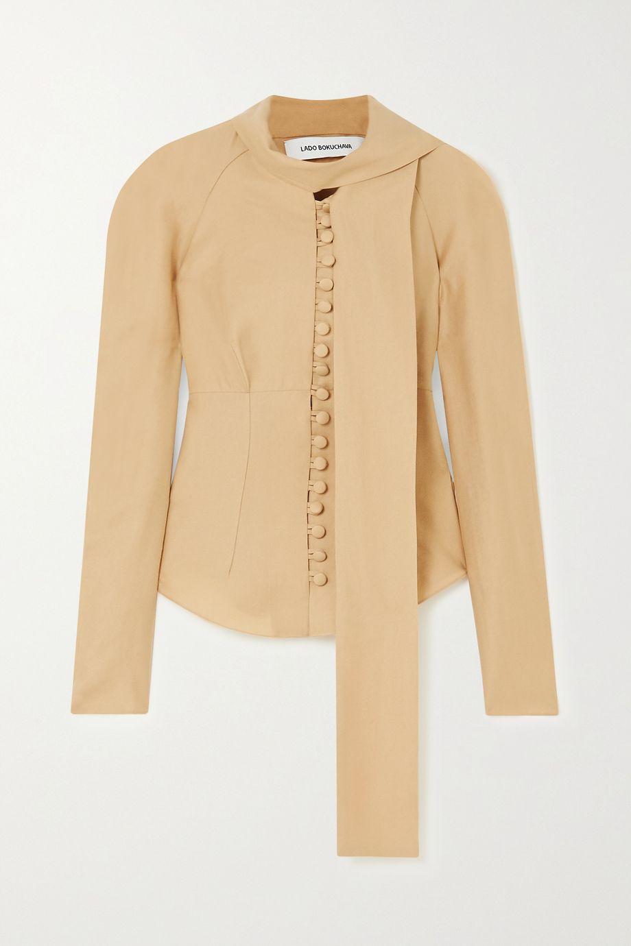 Lado Bokuchava Tie-neck woven blouse
