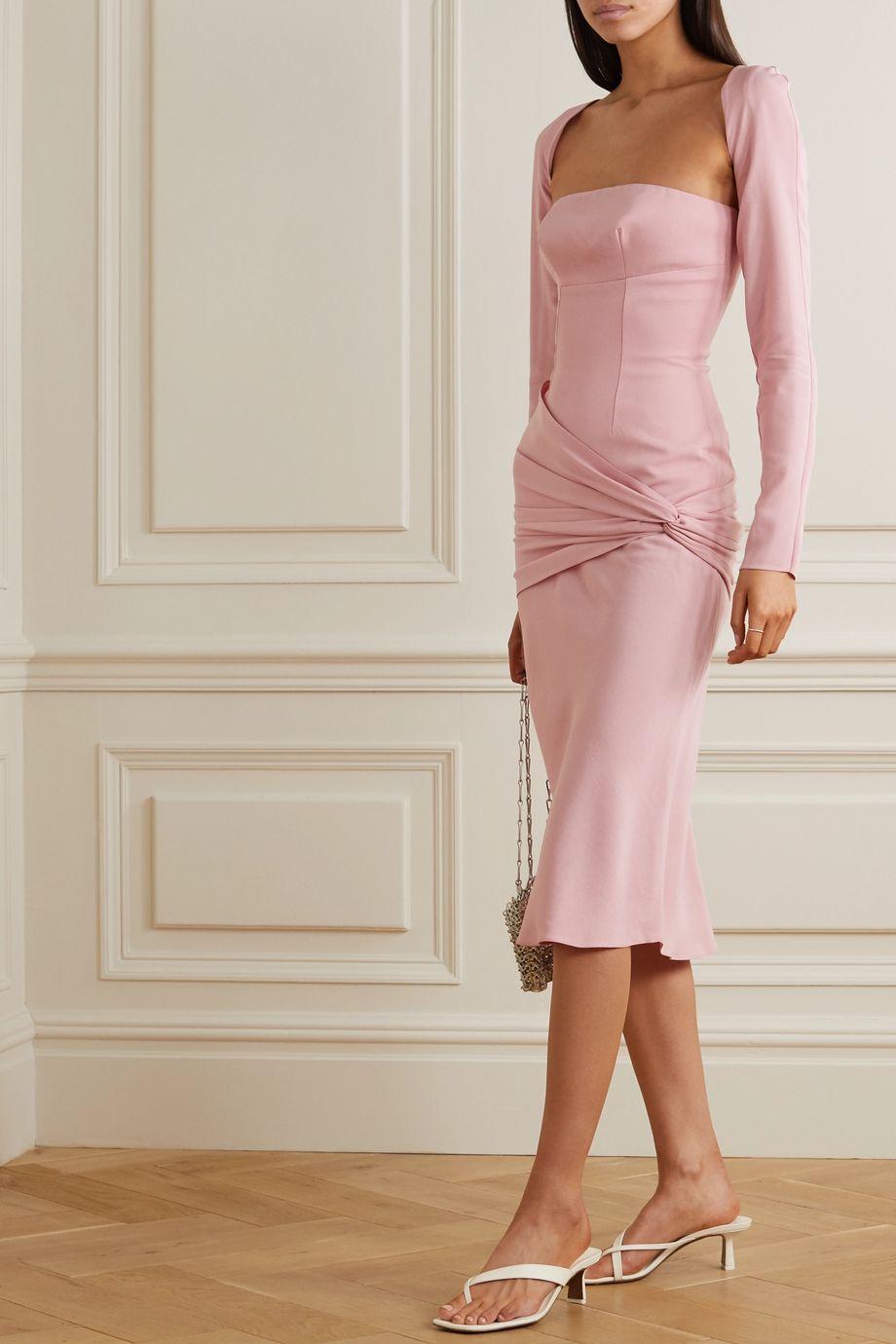 Lado Bokuchava Convertible gathered twill dress