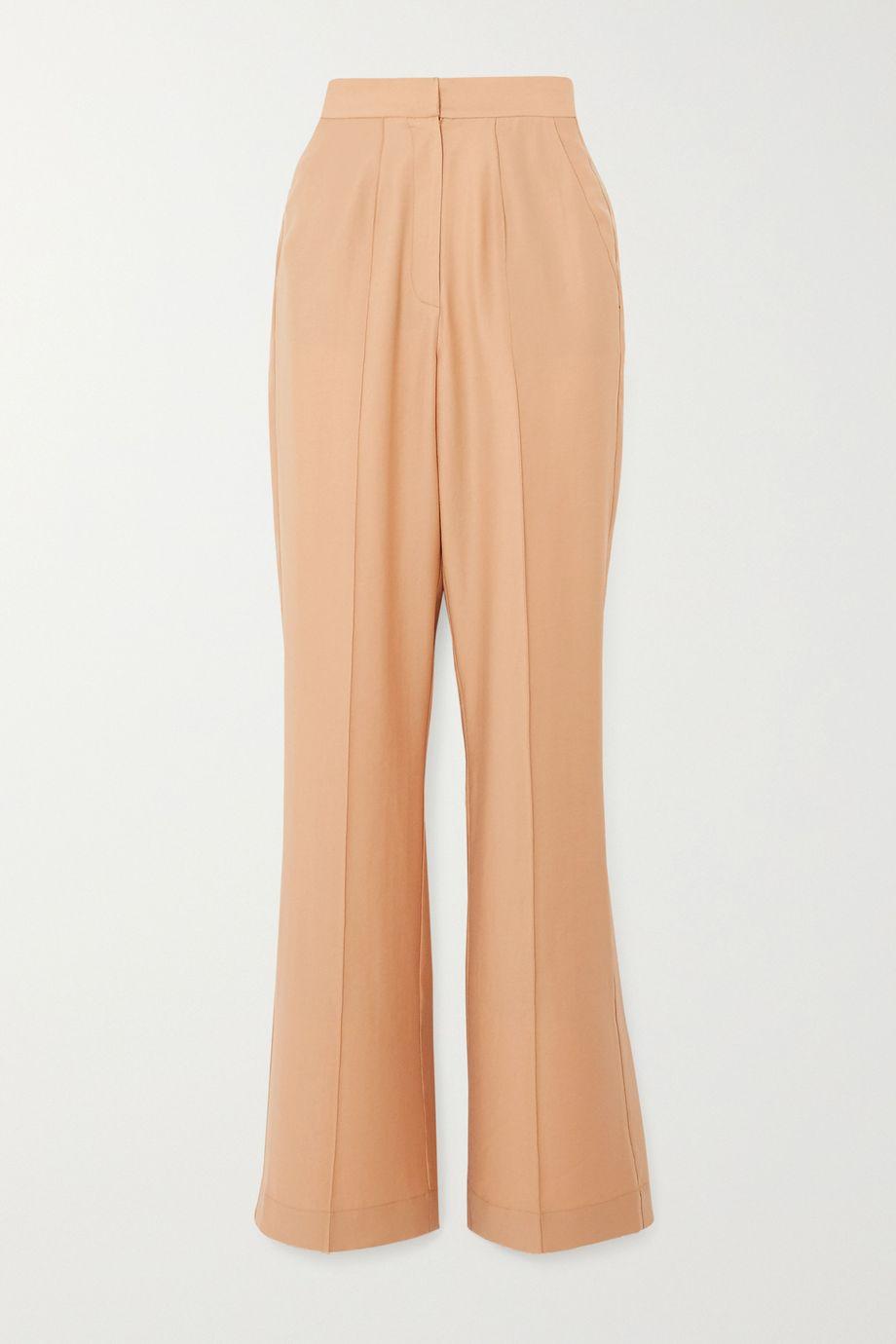 Lado Bokuchava Pintucked woven wide-leg pants