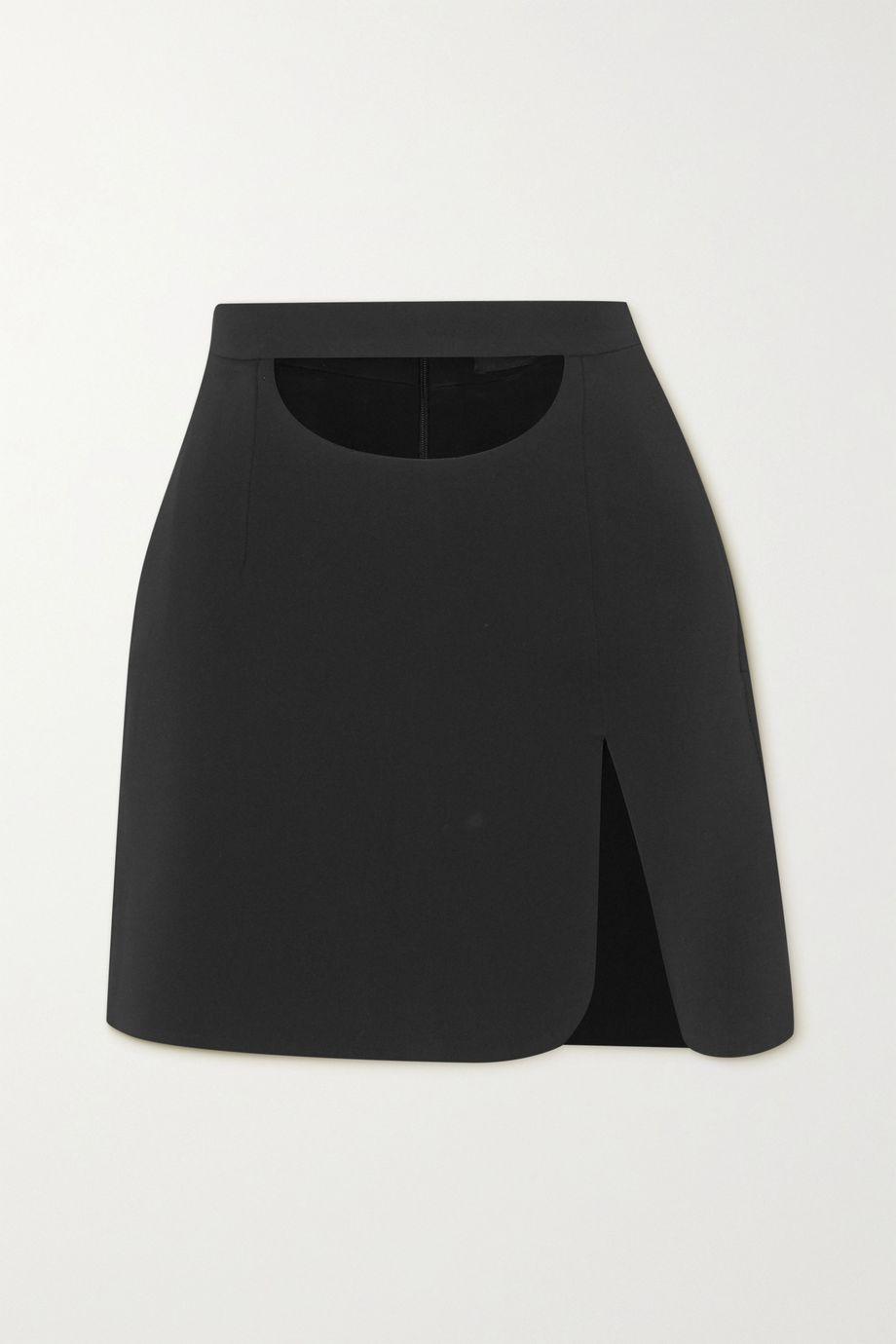 Lado Bokuchava Cutout crepe mini skirt