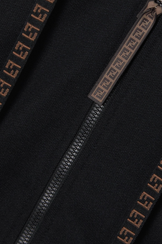 Fendi Rama jacquard-trimmed jersey track jacket