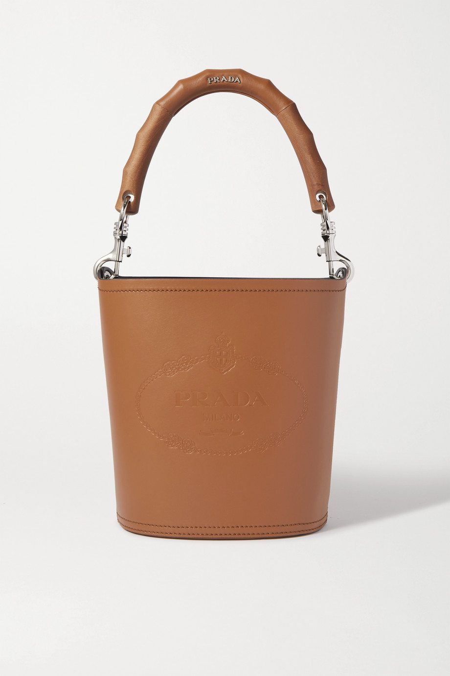 Prada Embossed leather bucket bag