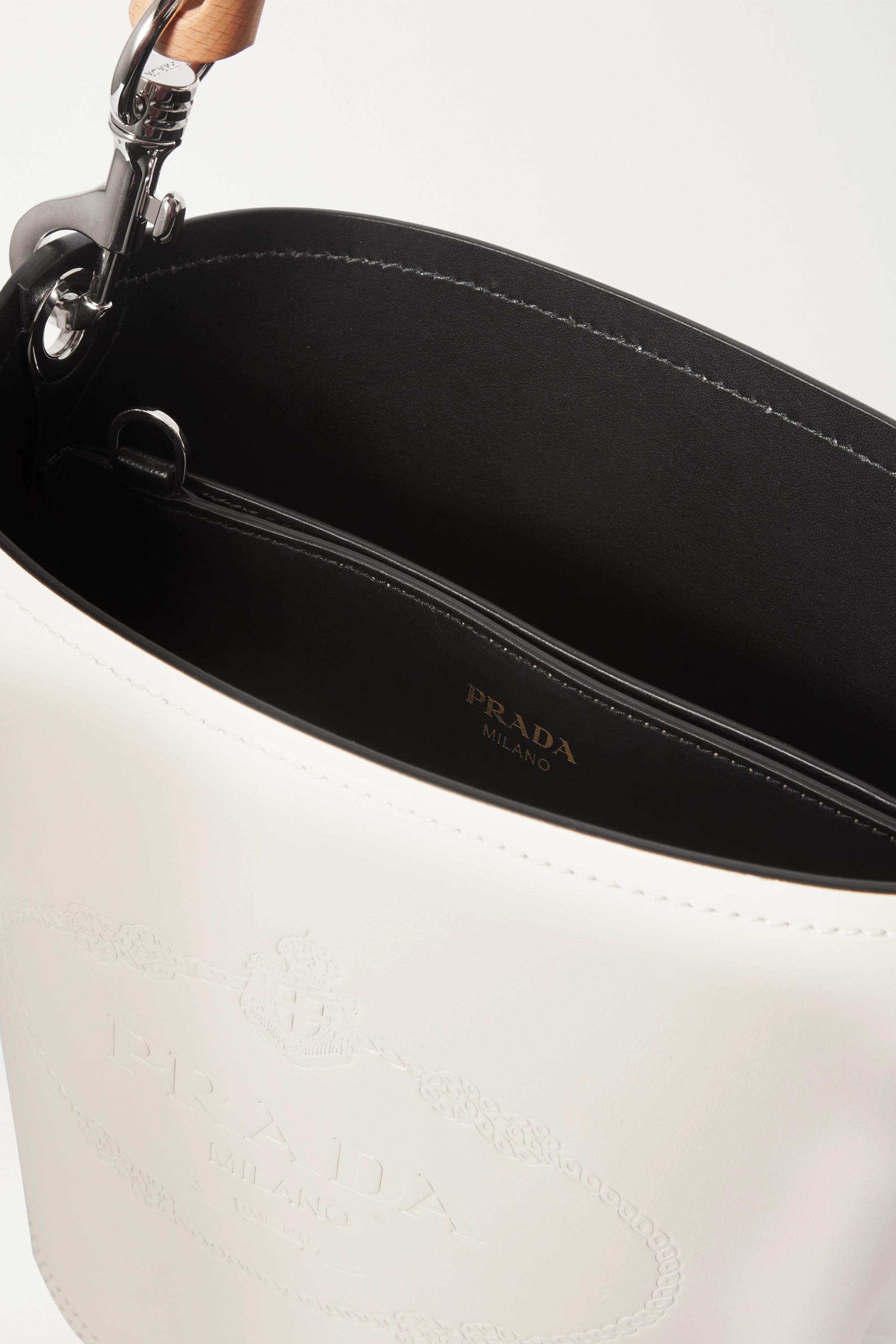 Prada Embossed leather bucket bag