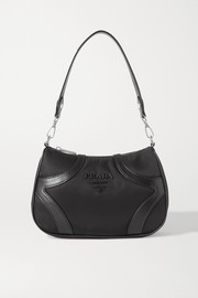 Prada Leather-trimmed nylon shoulder bag