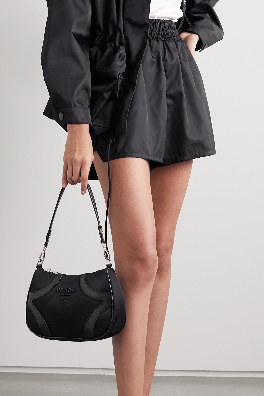 Prada Sac porté épaule en nylon et à finitions en cuir