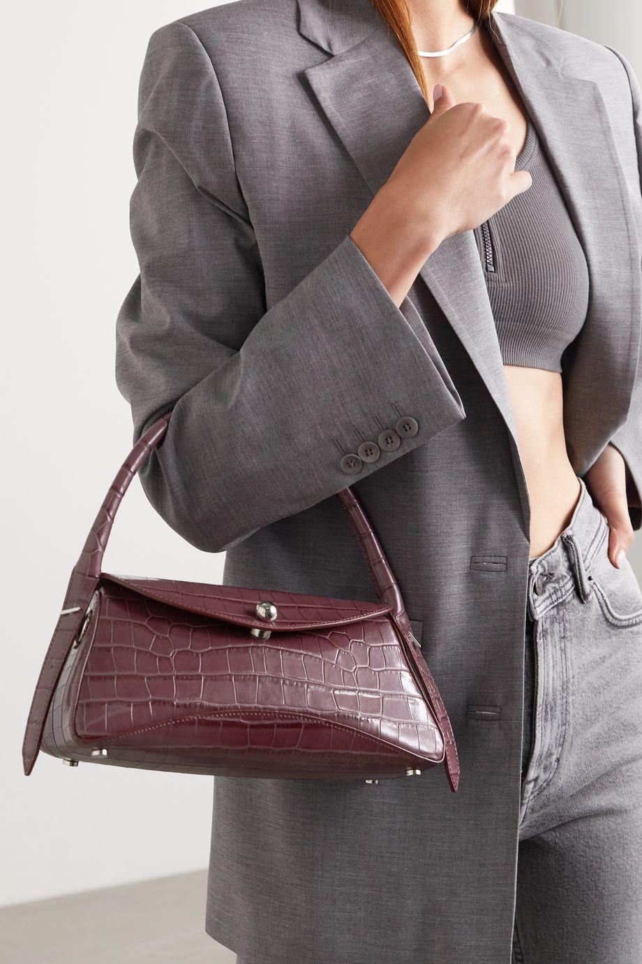 Ratio et Motus Cosmo croc-effect leather shoulder bag