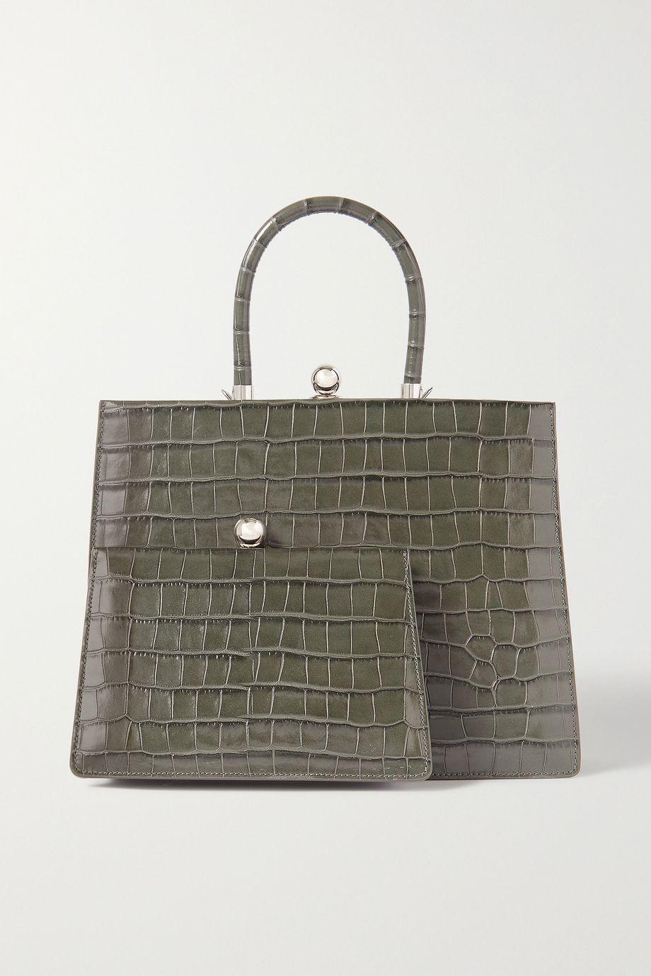 Ratio et Motus Twin Frame croc-effect leather tote