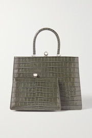 Ratio et Motus Twin Frame croc-effect leather tote