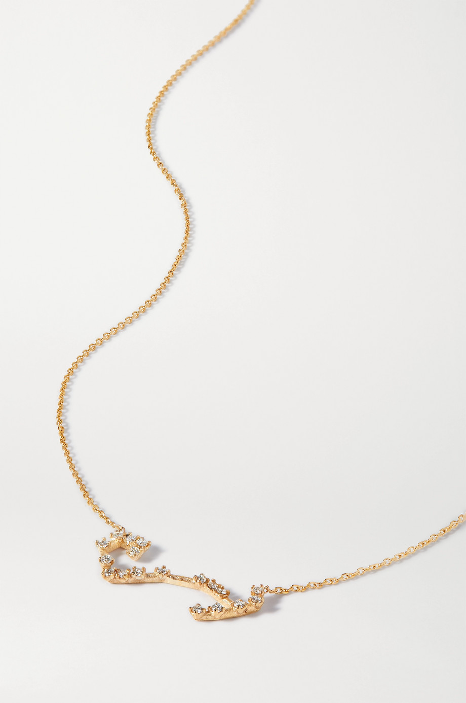 SARAH & SEBASTIAN Celestial Scorpio 10-karat gold diamond necklace