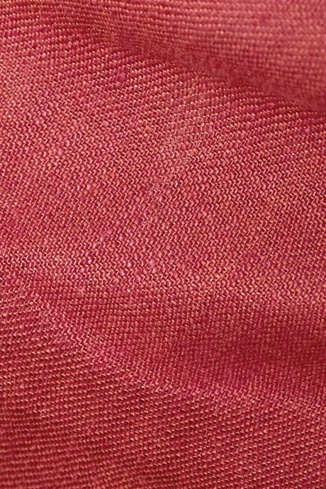 Claret Belted linen wide-leg pants | BONDI BORN nanCPo