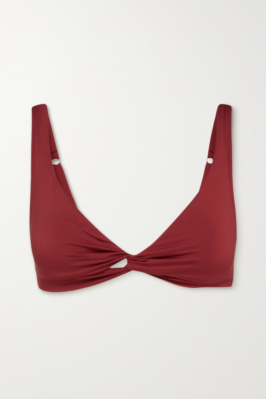 BONDI BORN Matilda twist-front bikini top