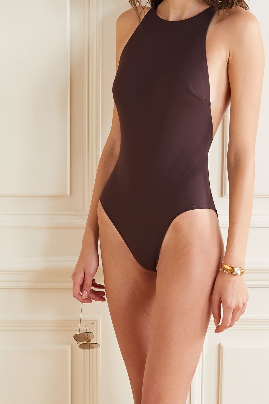 BONDI BORN Anais open-back swimsuit
