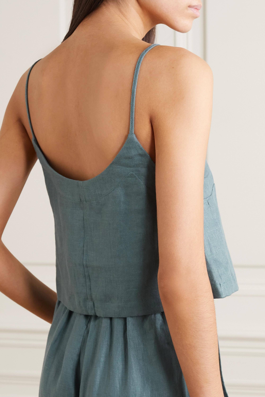 BONDI BORN Linen-twill camisole