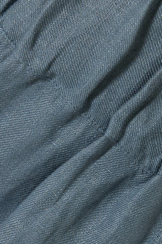 BONDI BORN Universal linen-twill wide-leg pants