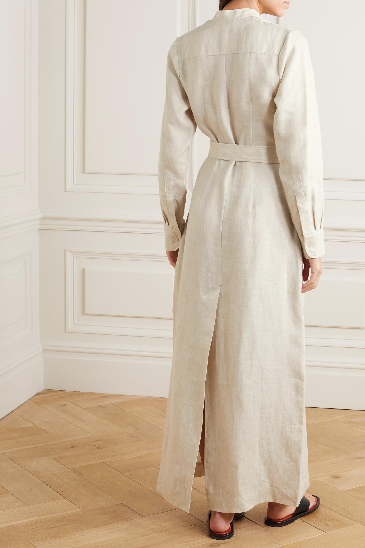 BONDI BORN Robe longue en lin à ceinture