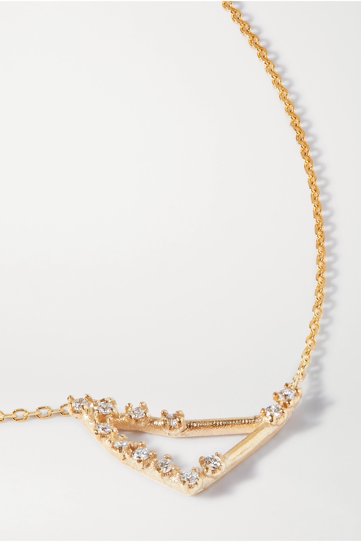 SARAH & SEBASTIAN Celestial Capricorn 10-karat gold diamond necklace