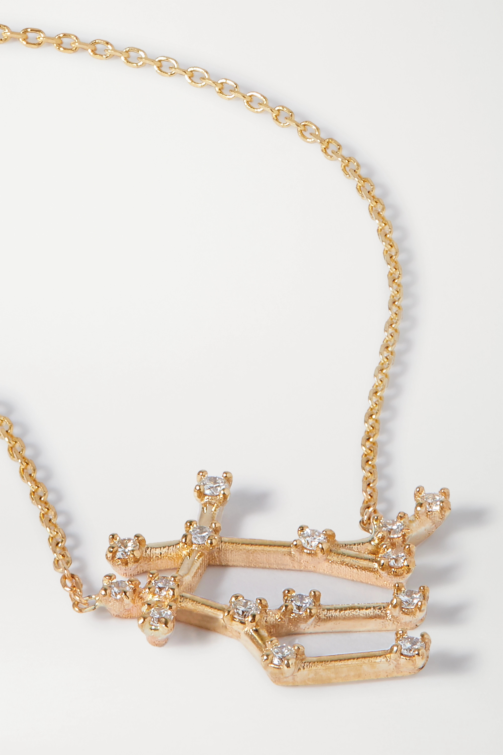 SARAH & SEBASTIAN Celestial Gemini 10-karat gold diamond necklace