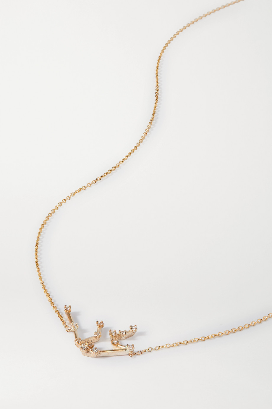 SARAH & SEBASTIAN Celestial Aquarius 10-karat gold diamond necklace