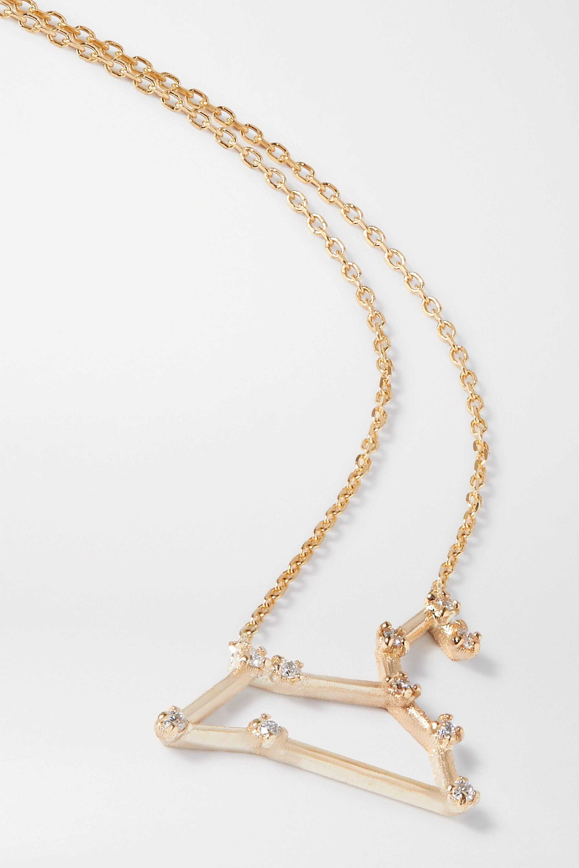 SARAH & SEBASTIAN Celestial Leo 10-karat gold diamond necklace
