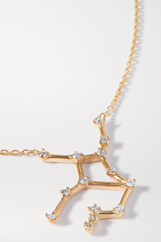 SARAH & SEBASTIAN Celestial Virgo 10-karat gold diamond necklace