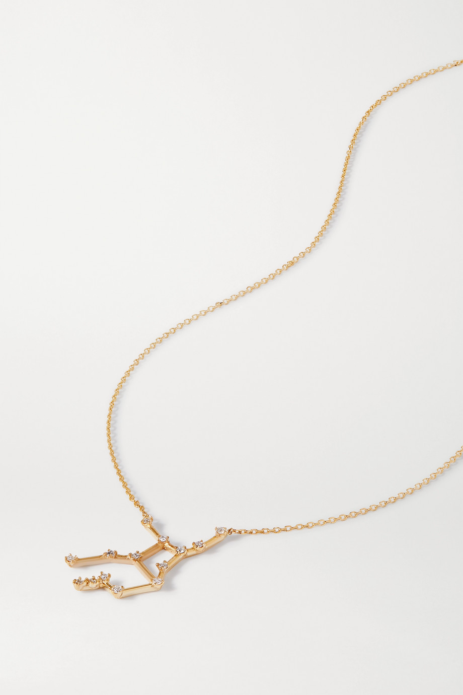 SARAH & SEBASTIAN Celestial Virgo 10-karat gold diamond necklace