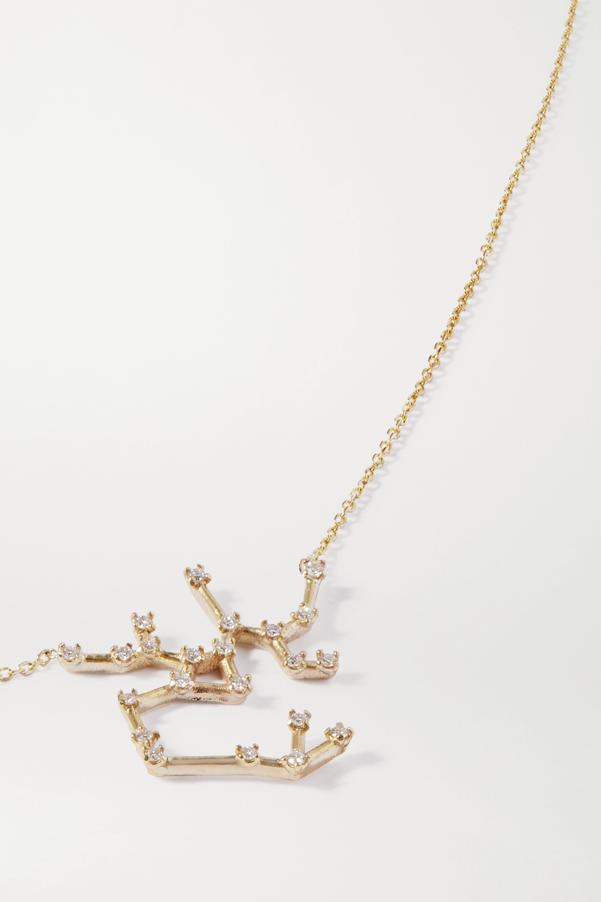 SARAH & SEBASTIAN Celestial Sagittarius Kette aus 10 Karat Gold mit Diamanten