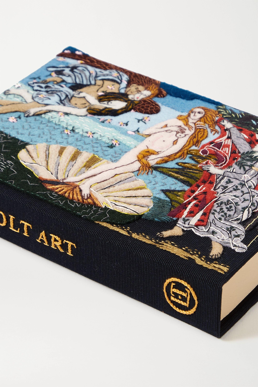 Olympia Le-Tan Venus embroidered appliquéd canvas clutch