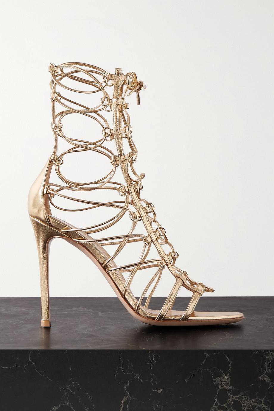 Gianvito Rossi 105 metallic leather sandals