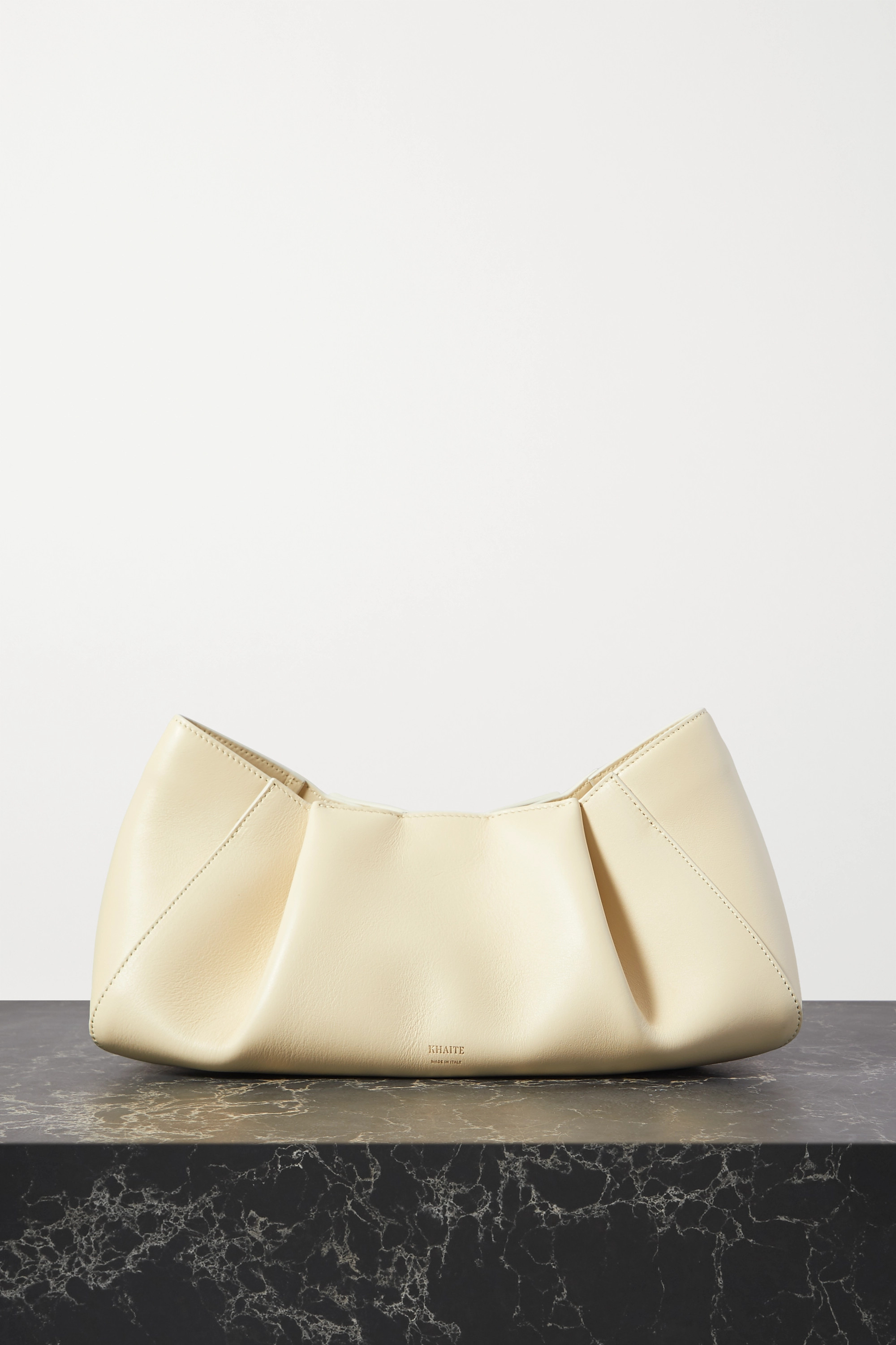 Khaite Jeanne small leather clutch