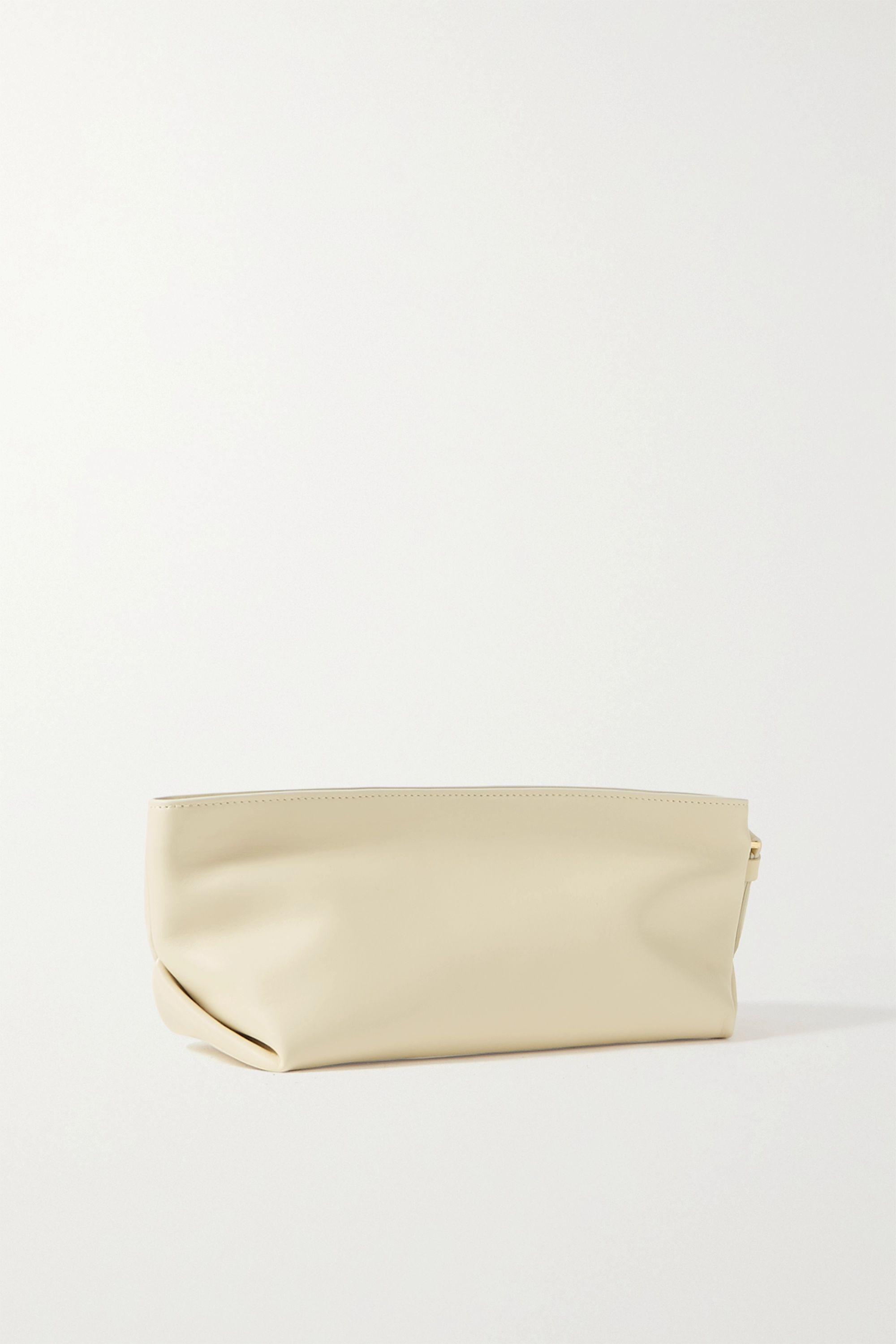Khaite Alma small leather clutch
