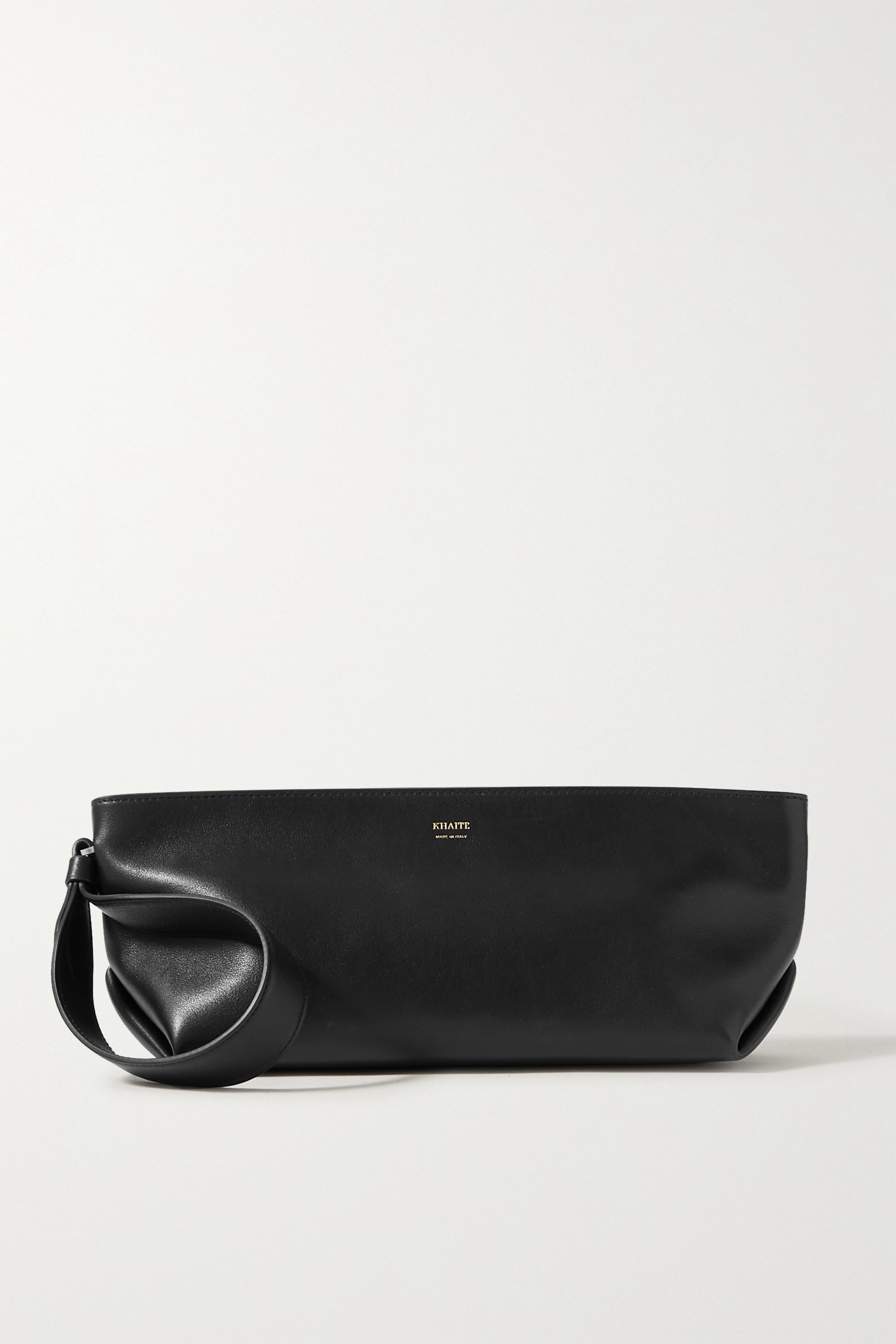 Khaite Alma small leather clutch