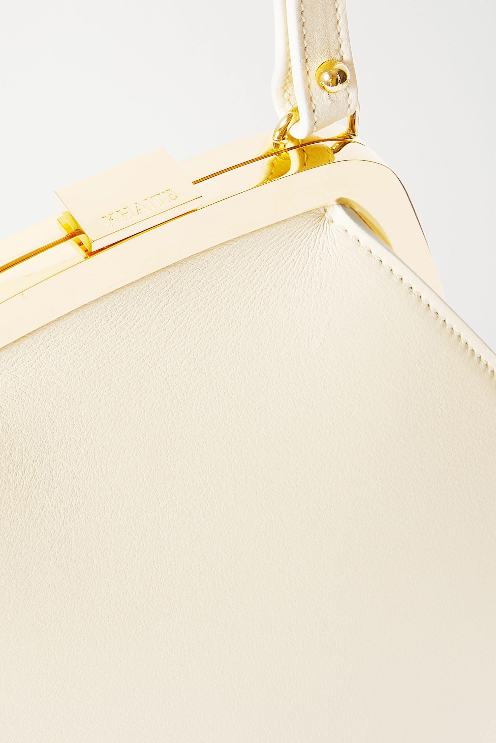 Khaite Round Frame leather shoulder bag