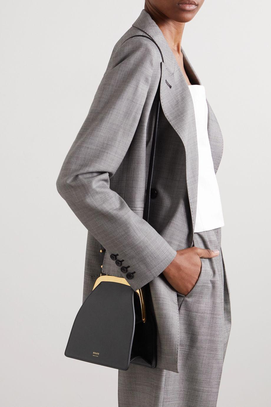 Khaite Round Frame 皮革单肩包
