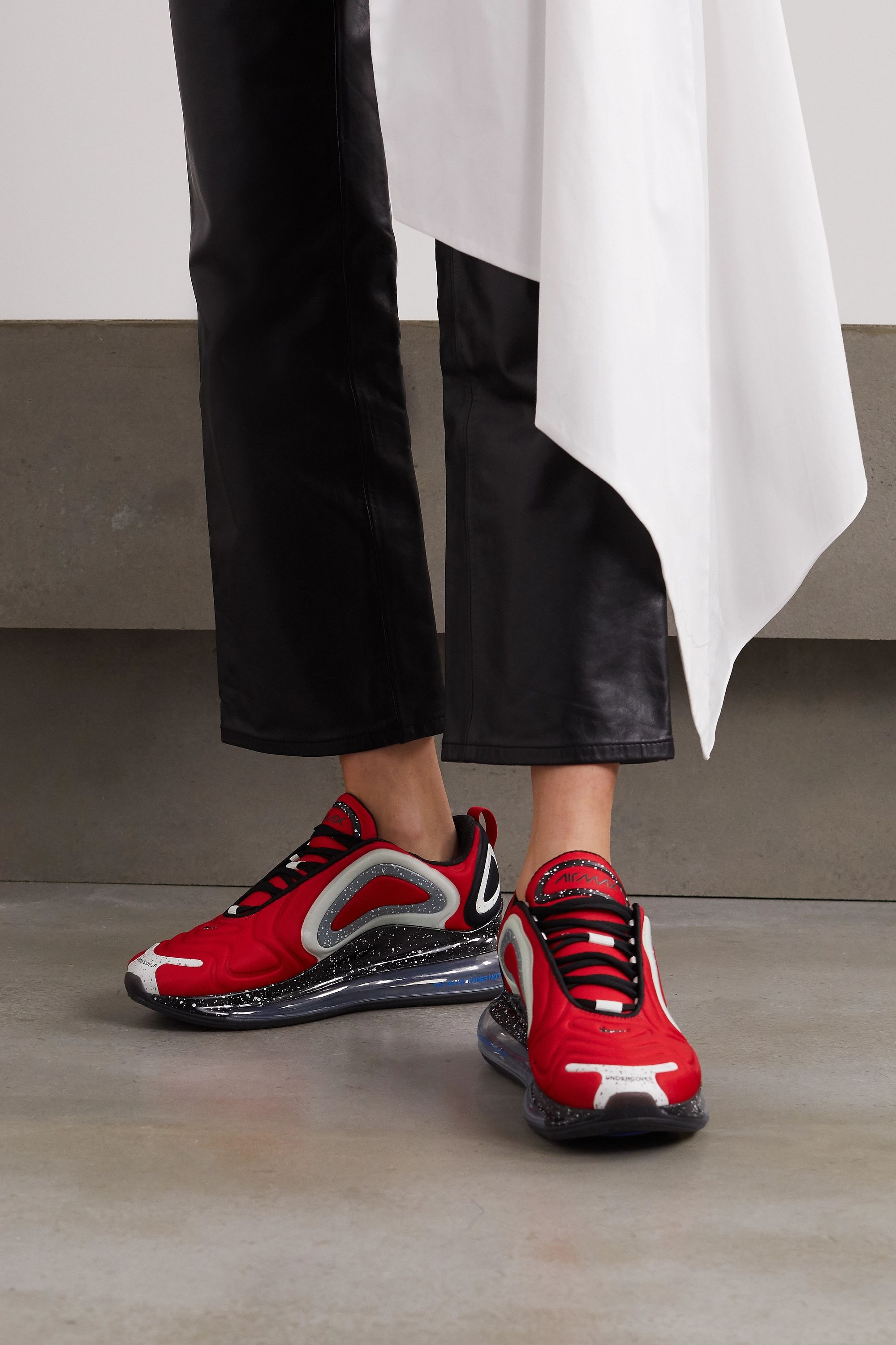 Red Undercover Air Max 720 Neoprene And Rubber Sneakers Nike