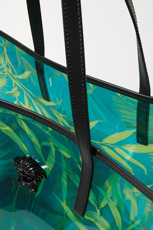 Versace Jungle Tote aus bedrucktem PVC mit Verzierung