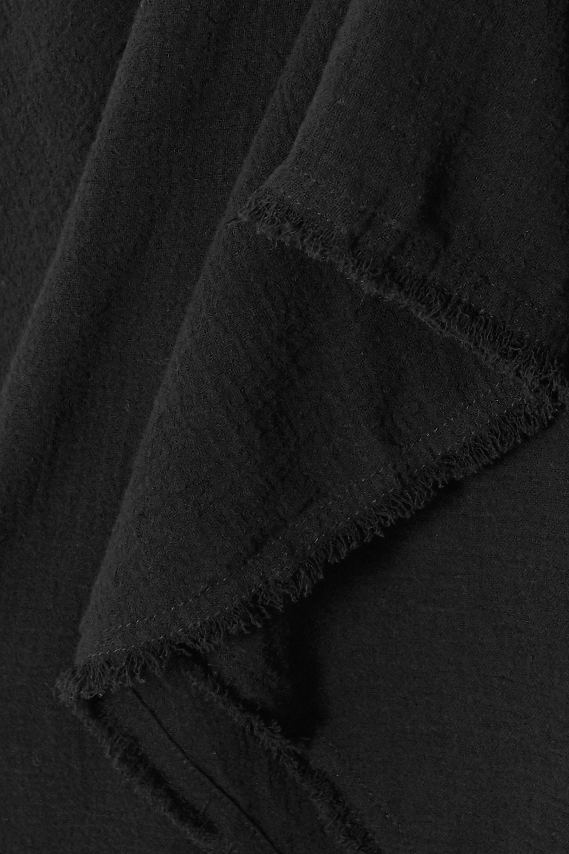 Caravana 【NET SUSTAIN】Nikab 绒面革边饰流苏纯棉薄纱连身裤