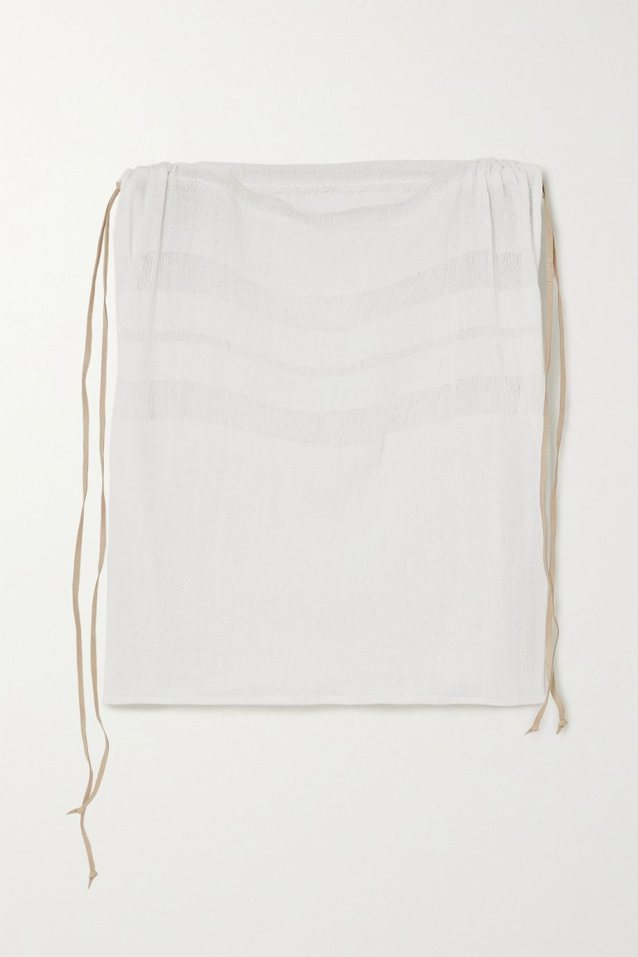 Caravana + NET SUSTAIN Chunox suede-trimmed cotton-gauze top
