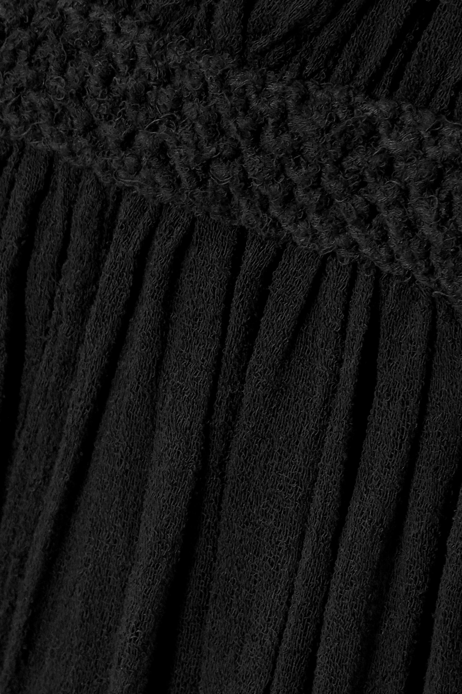Caravana + NET SUSTAIN Tuz macramé-trimmed cotton-gauze dress